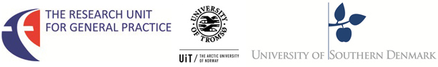 Logos - FE, The Research Unit for general practice, Aarhus Odense Copenhagen - and - UiT, University of Tromsø, The artic University of Norway